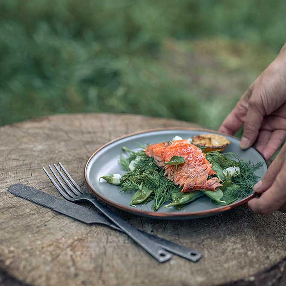 ベアボーンズ リビング エナメル 8インチ サラダプレート 2枚セット クックウェア  国内正規品