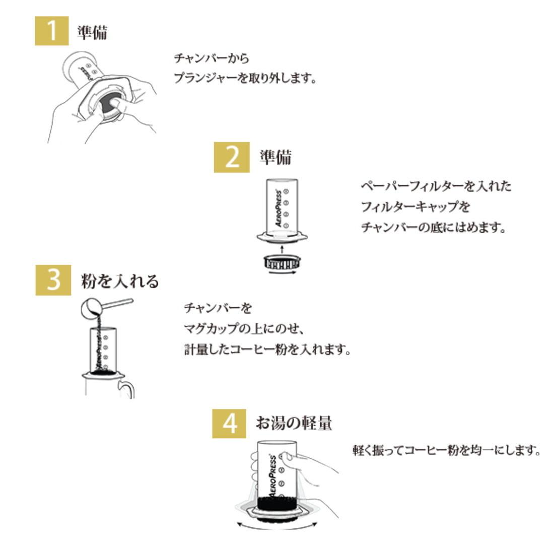 エアロプレス AeroPress Coffee Maker コーヒーメーカー コーヒーミル用 手挽き 珈琲豆用  国内正規品 89209205