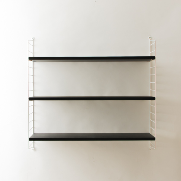 string system BASIC 78×30 (ブラックステインドアッシュ/ホワイトフレーム)