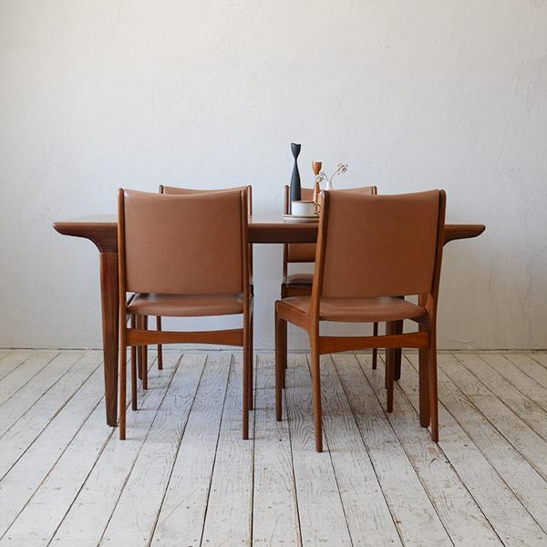 Johannes Andersen Dining Table Chairセット / D-R208D509T、910D614A・B・C・D(4脚)