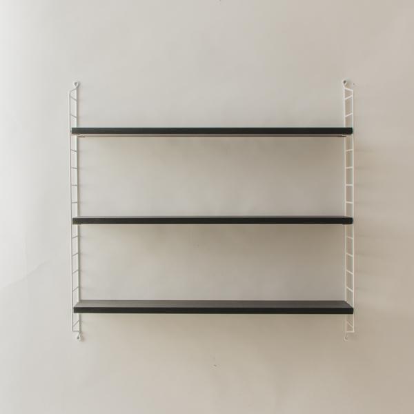 string system BASIC 78×20 (ブラックステインドアッシュ/ホワイトフレーム)