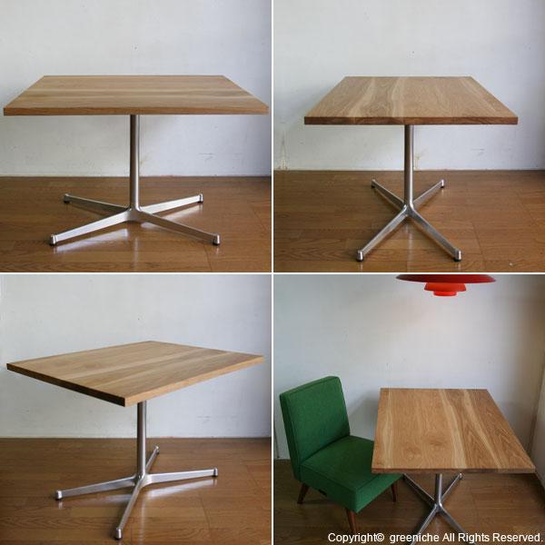 カフェテーブル無垢オーク(テレワーク・デスク・リモートワーク・リビング学習) w900×d700