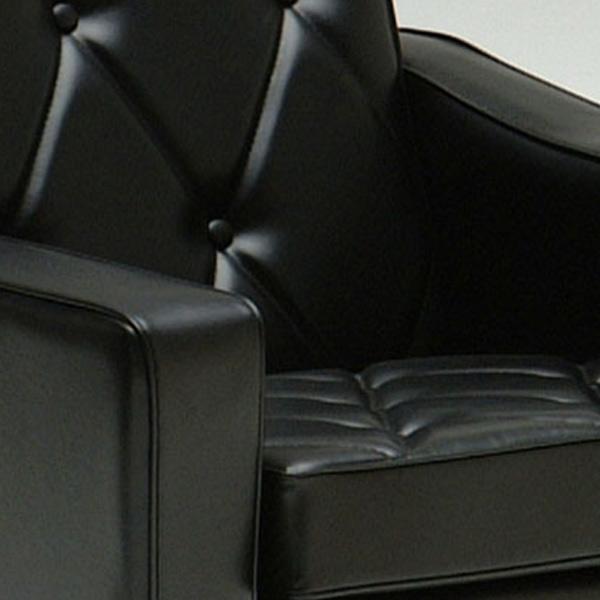 カリモク60 ロビーチェア 1シーター スタンダードブラック