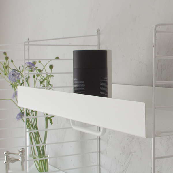 stringシェルフオプション メタル棚板用 レール (S) ホワイト