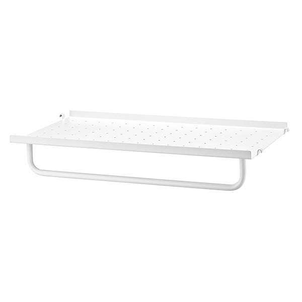 stringシェルフオプション メタル棚板用 レール (M) グレー