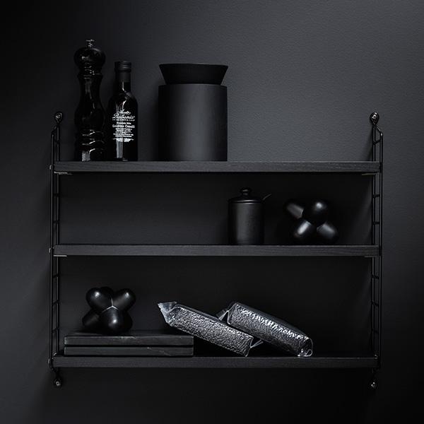 String Pocket (ストリング ポケット) Black Stained Ash