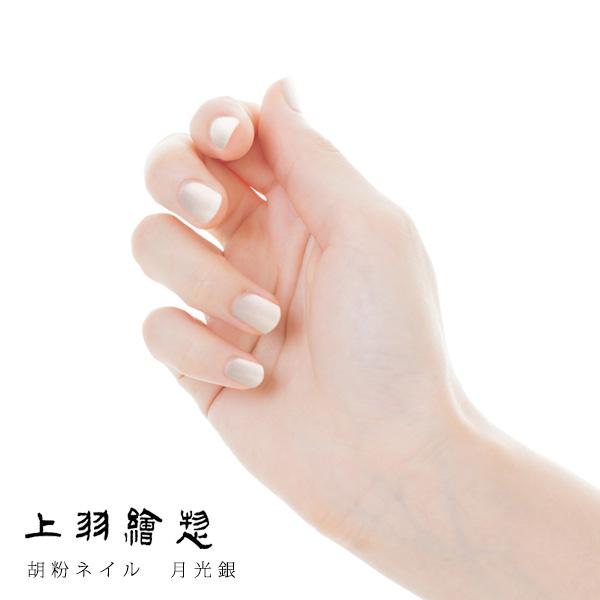 胡粉ネイル 月光銀 (げっこうぎん)(d3/上羽絵惣 ネイル マニキュア/4571285131537)