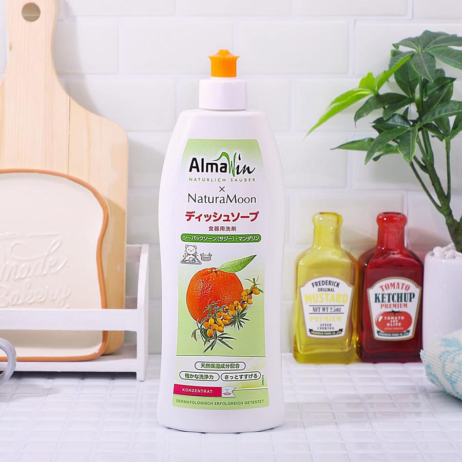 アルマウィン×ナチュラムーン ディッシュソープ 食器用洗剤  シーバックソーン(サジー)マンダリン500ml(f5/NaturaMoon ナチュラルムーン 食器洗剤/4935137804428)