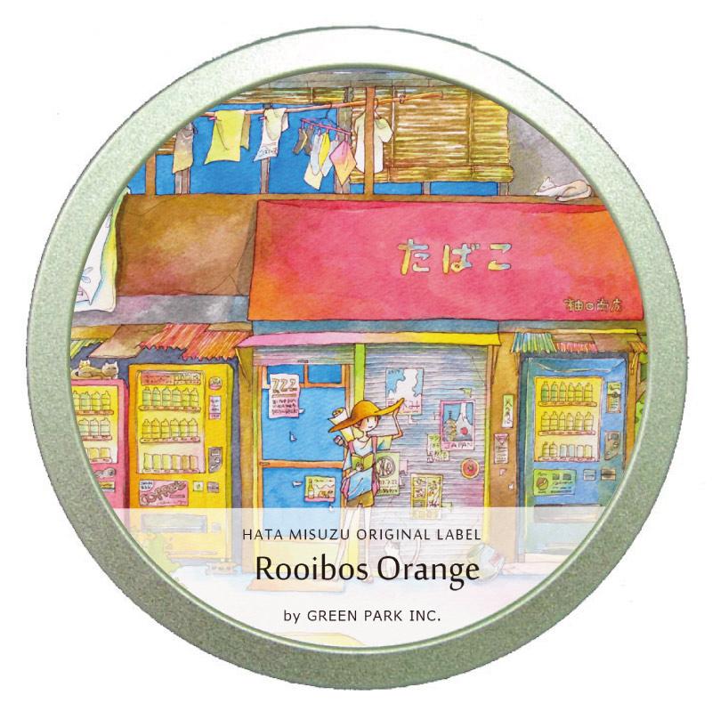 ルイボスオレンジ缶 /  GREEN PARK Inc. × はた みすず