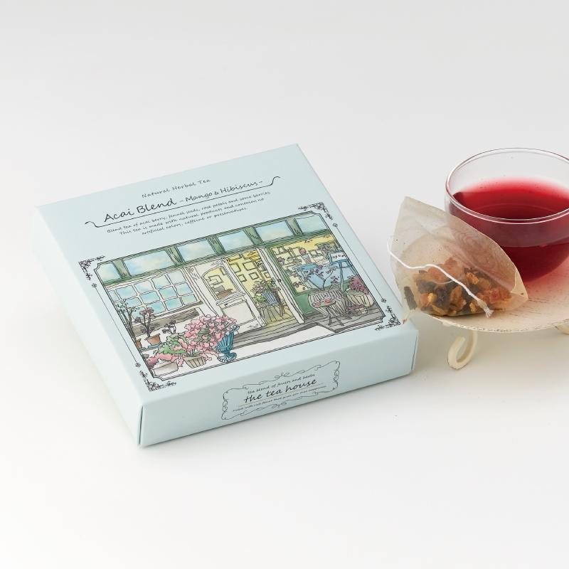 人気ブレンド ティーパック2種ギフト アサイーブレンド(マンゴー&ハイビスカス)&フルーツジンジャー(ほっこり生姜茶)