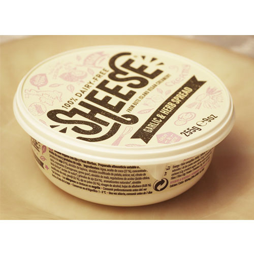 動物原料&乳製品不使用 ニンニクとハーブクリーミー シーズ255g【ベジタリアンチーズ ソイチーズ 大豆チーズ Vegan Cheese sheese】 tt jn