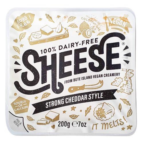 動物原料&乳製品不使用 シーズ・濃厚チェダースタイル 200g【ベジタリアンチーズ Vegan Cheese sheese】 tt jn