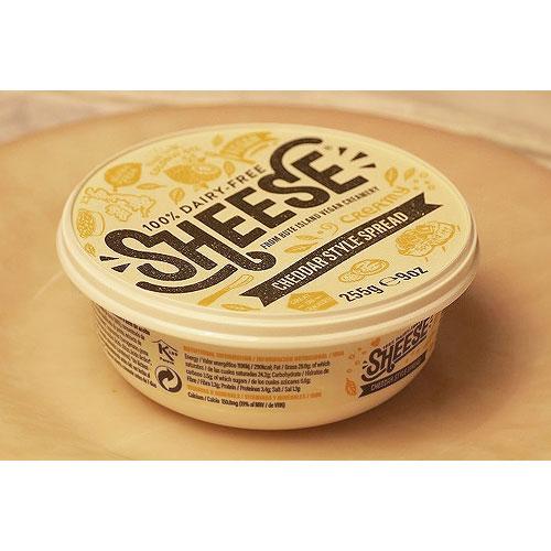 動物原料&乳製品不使用 チェダー・スタイルクリーミー シーズ255g【ベジタリアンチーズ ソイチーズ 大豆チーズ Vegan Cheese sheese】 tt jn