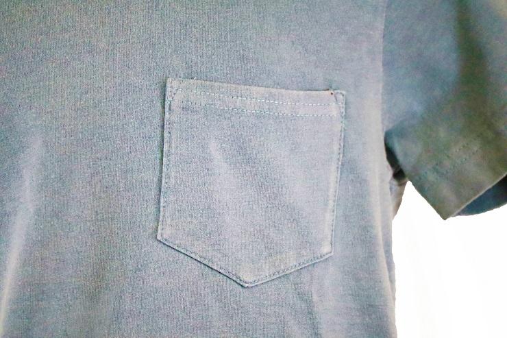天竺ピグメント染Tシャツ