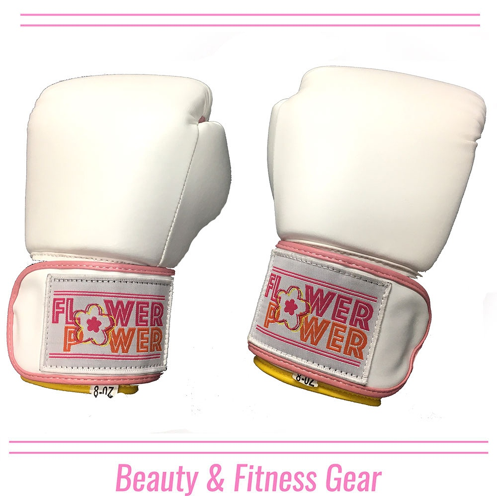 FLOWER BOXING GLOVE WH/PNK