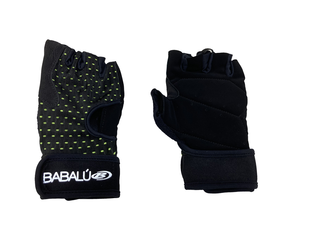 BABALU POLYESTER SPORTS GLOVES NEON YELLOW