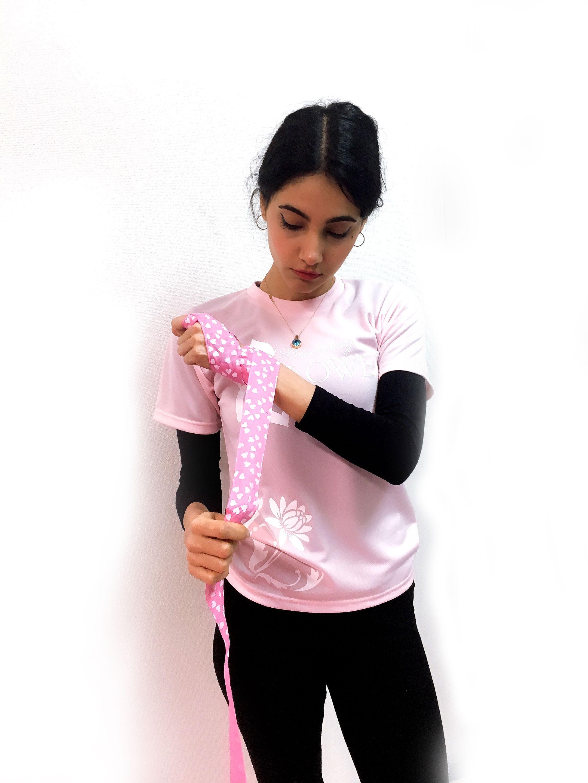 FLOWER Hand Wrap バンテージ 400cm PNK/WH