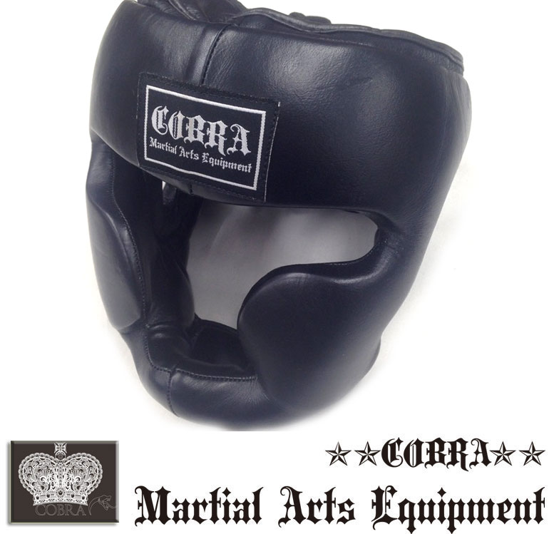 COBRA SFG BOXING HEAD GUARD BLACK