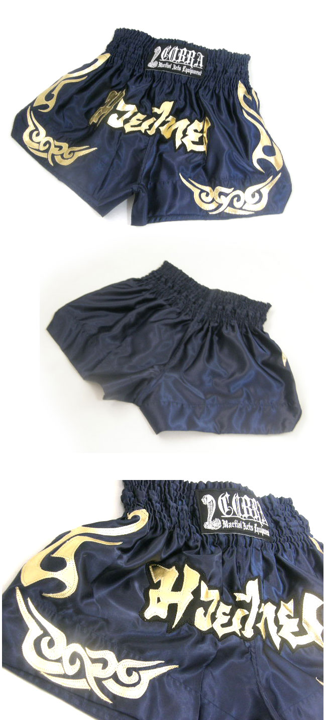 COBRA Muay Thai Shorts cl-2 NavyBlue/Gold ※YouTuberファミリータイムクーポン対象商品 FT愛用モデル