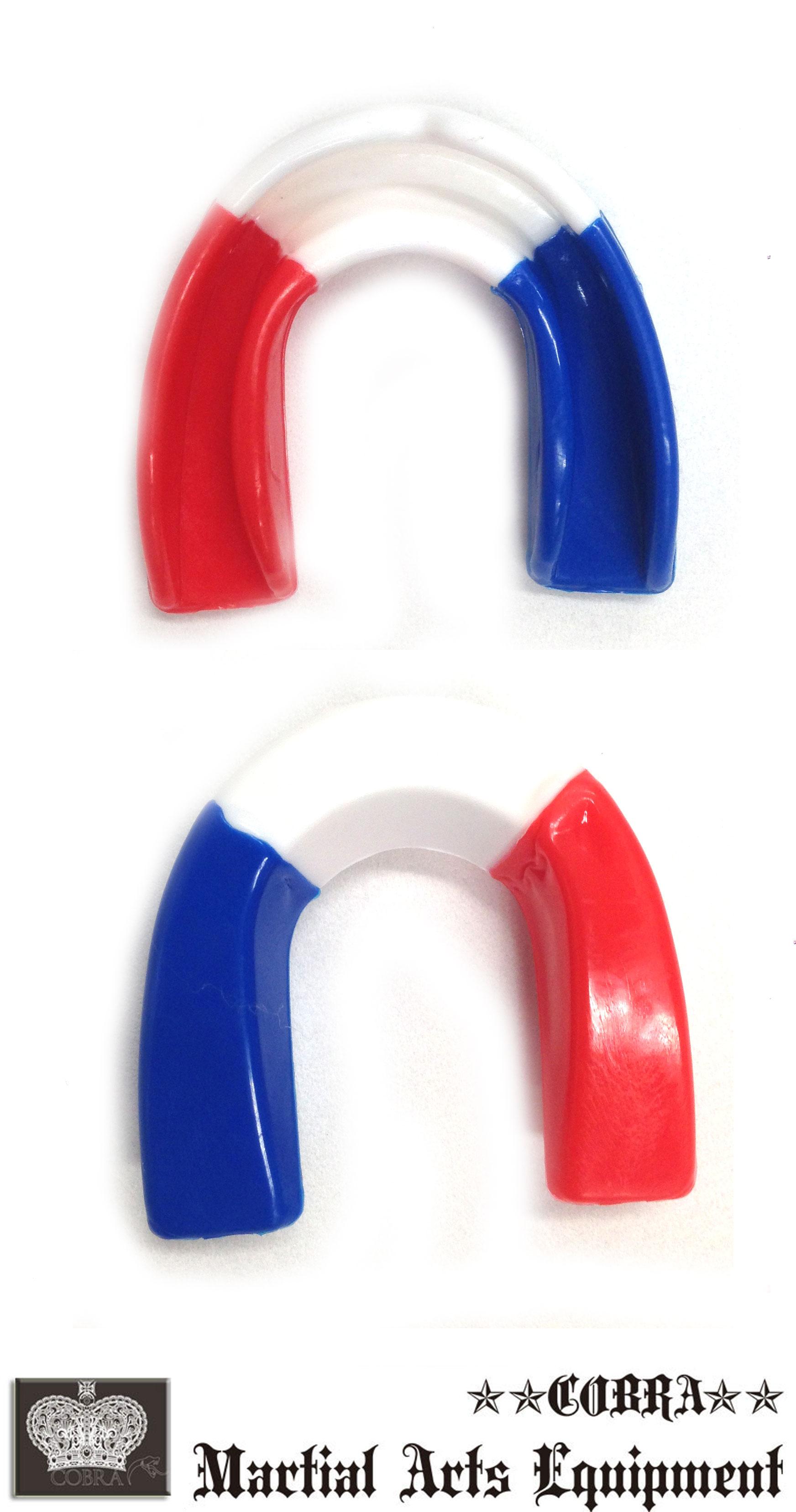 COBRA カラフルマウスピース(ケース付き)MOUTH GUARD BLUE/WHITE/RED(USA カラー)