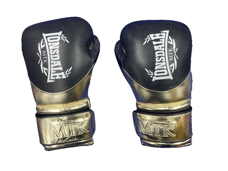 LONSDALE L60 Hook and Loop Training Gloves BK/GD MTX