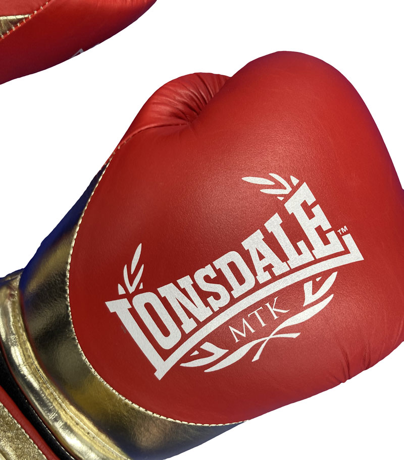 LONSDALE L60 Hook and Loop Training Gloves RD/GD MTX