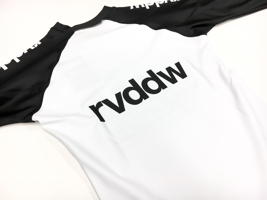 rvddw LONG RASH GUARD (長袖ラッシュガード) WHITE