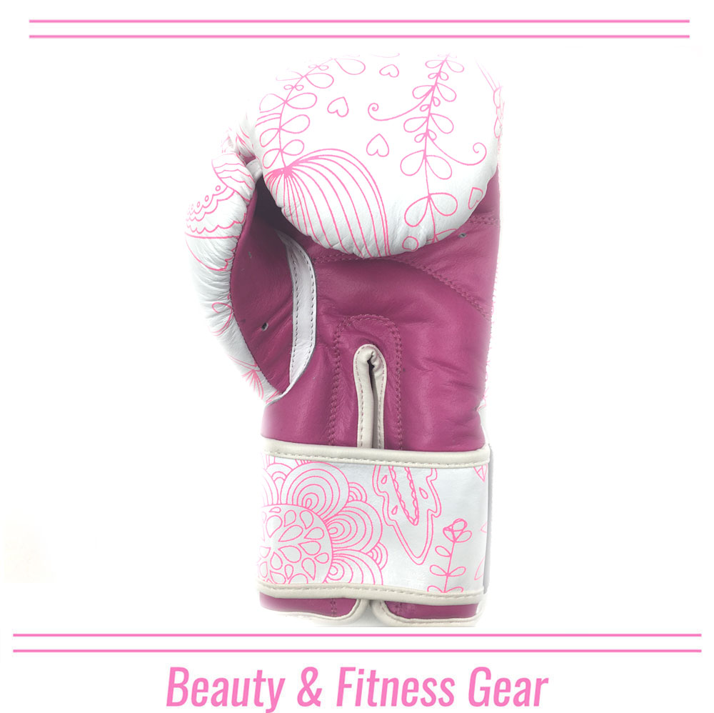 FLOWER BOXING GLOVE PINK LINE