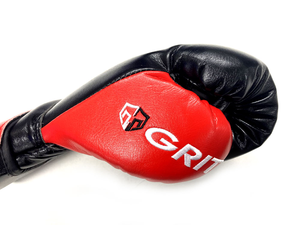 GRIT BOXING GLOVE 2101 BK/WH EMBROIDERY(High spec model)※YouTuberファミリータイム愛用モデル