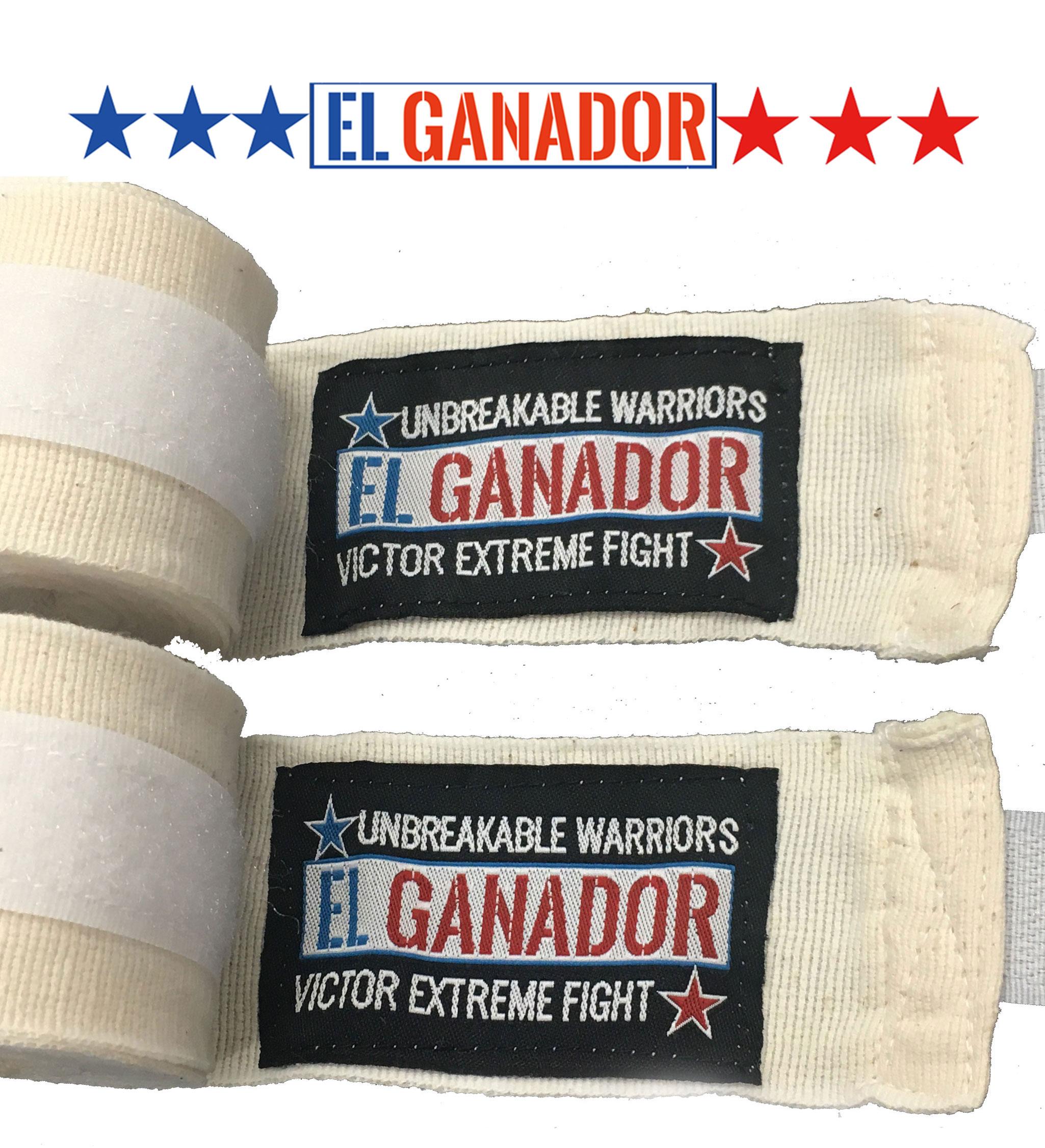 EL GANADOR Hand Wrap WHITE バンテージ 400cm