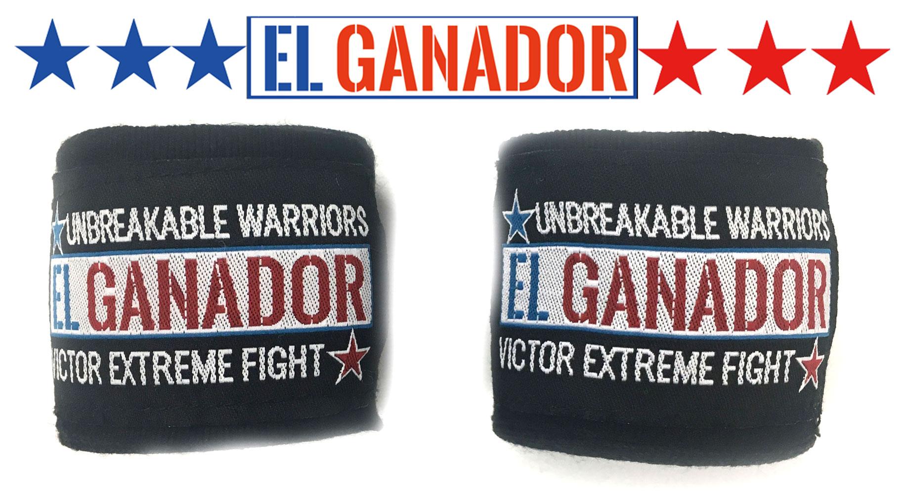 EL GANADOR Hand Wrap BLACK バンテージ 400cm ※YouTuberファミリータイムクーポン対象商品 FT愛用モデル