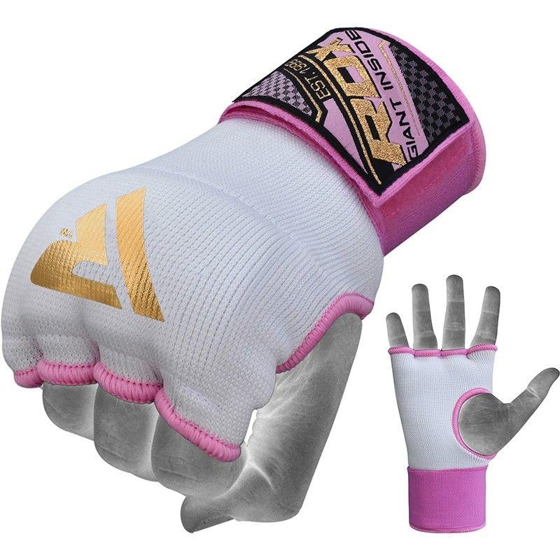 RDX IS Women Gel Padded Wrist Strap Inner Gloves Pink / White