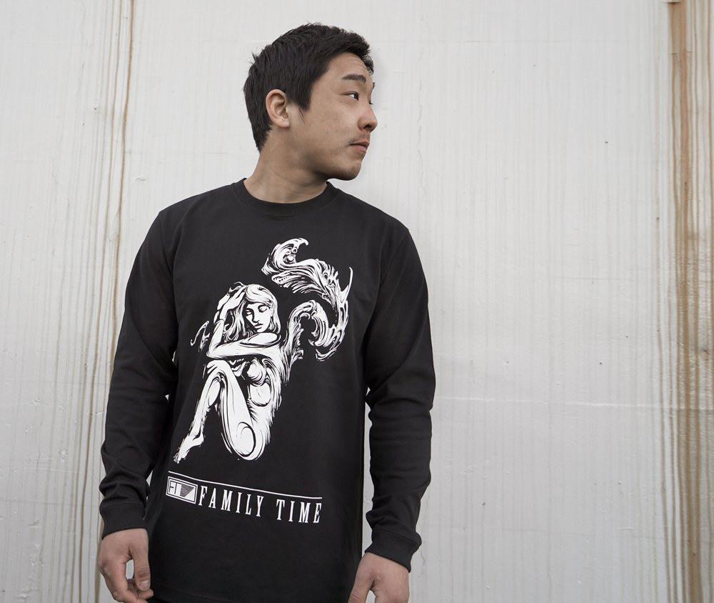 FAMILY TIME COTTON LONG SLEEVE BLACK