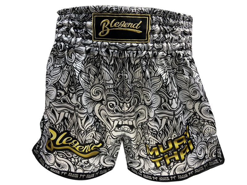 Blegend Boxing Shorts Grey Devil