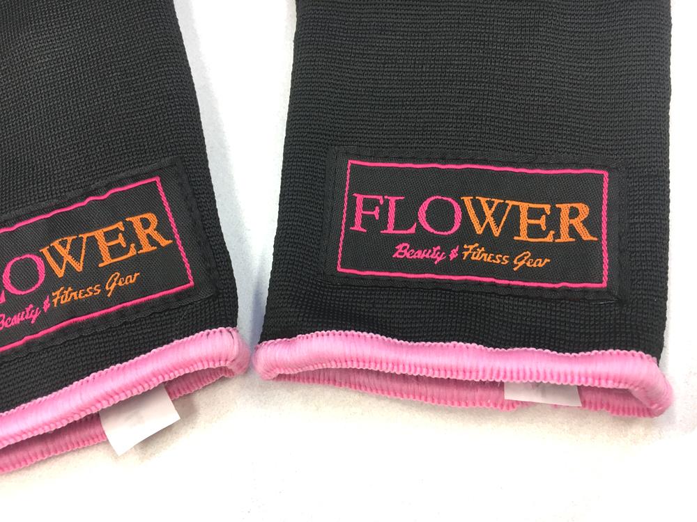 FLOWER GEL INNER GLOVE BK/PNK