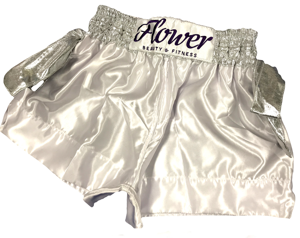 FLOWER MUAY THAI SHORTS RIBBON