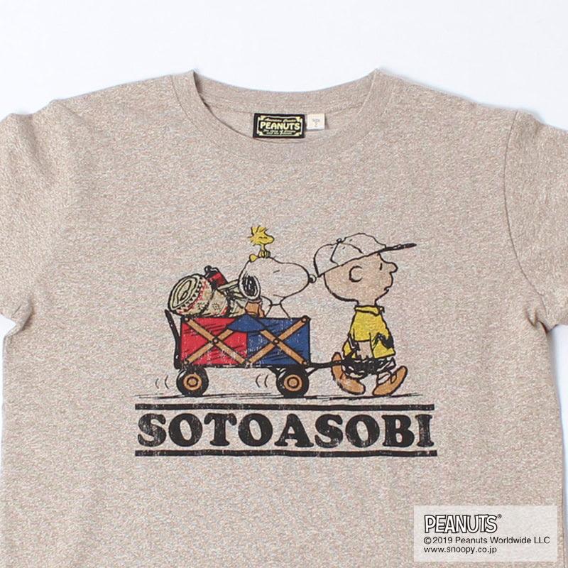 SOTOASOBI SNOOPY S/S TEE(H.BEIGE)