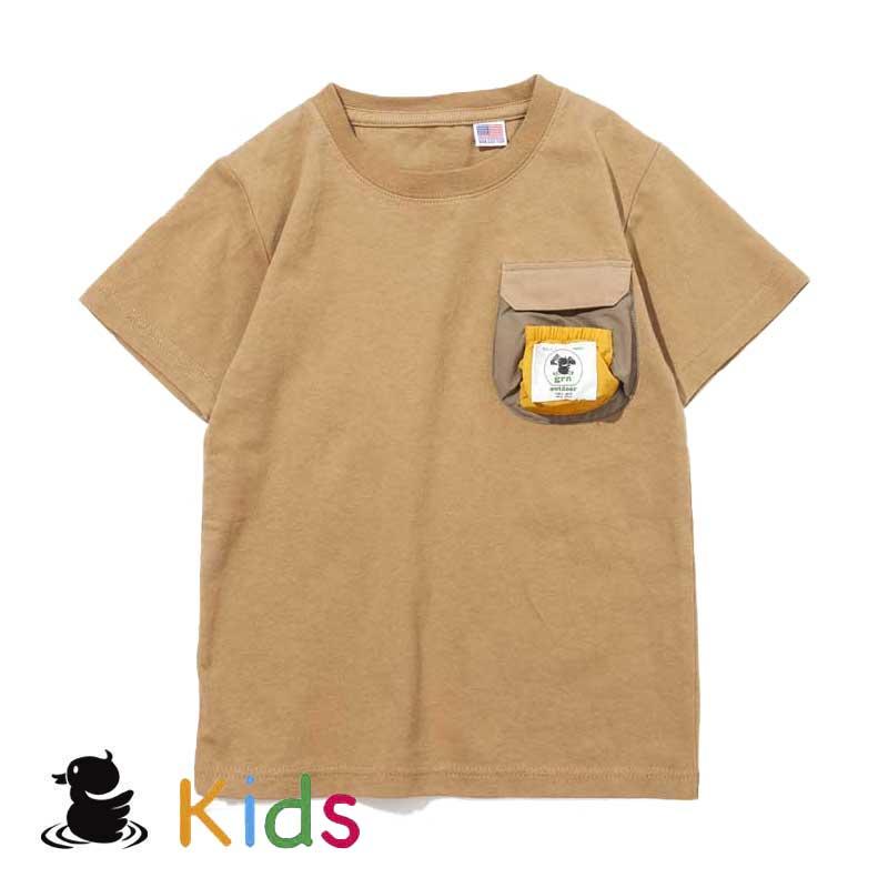 MUSHIMUSHIS/S TEE(KIDS)(CAMEL)