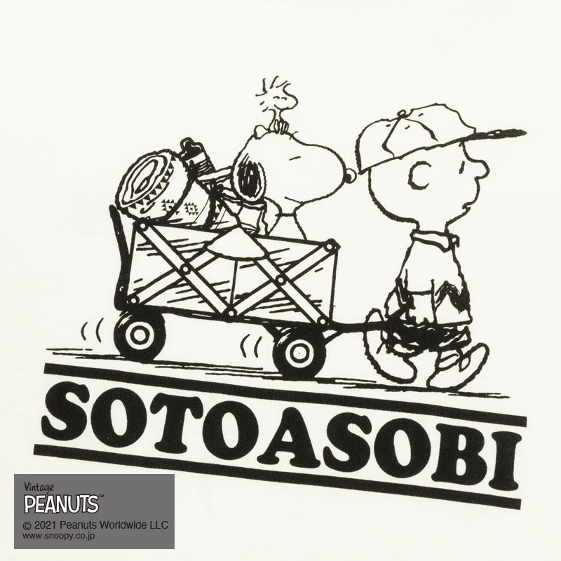 SOTOASOBI SNOOPY S/S TEE(WHITE)