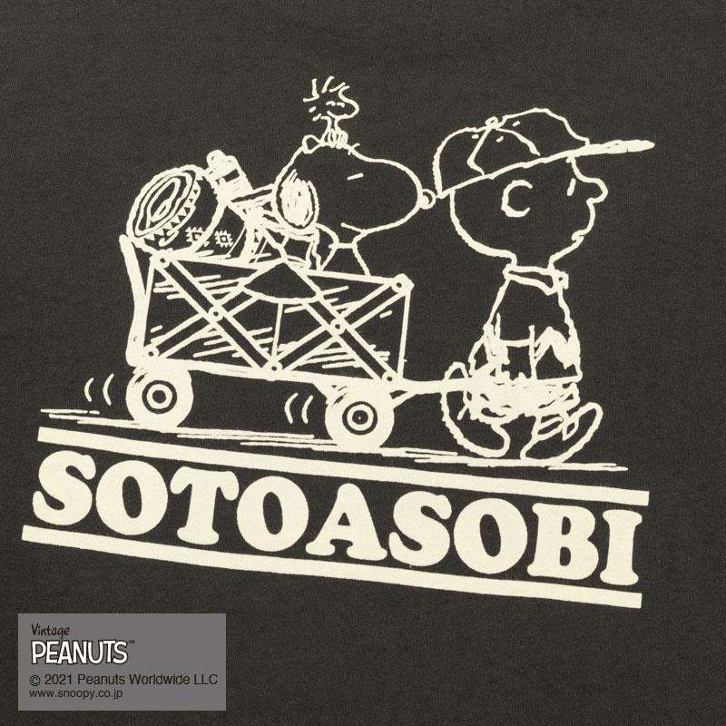 SOTOASOBI  SNOOPY  S/S  TEE(SMOKE)