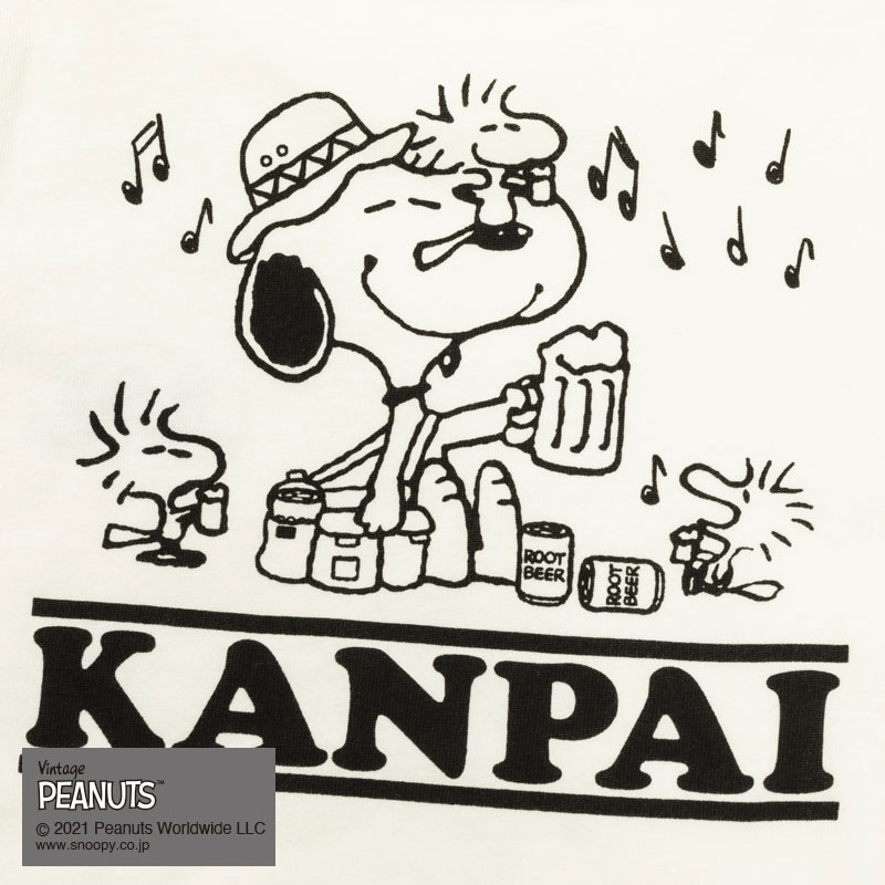 KANPAI SNOOPY S/S TEE(WHITE)