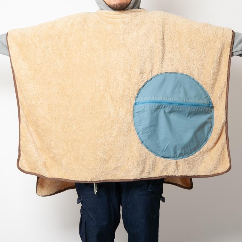 60/40 CUSHION BLANKET ROKUYON(BLUE)
