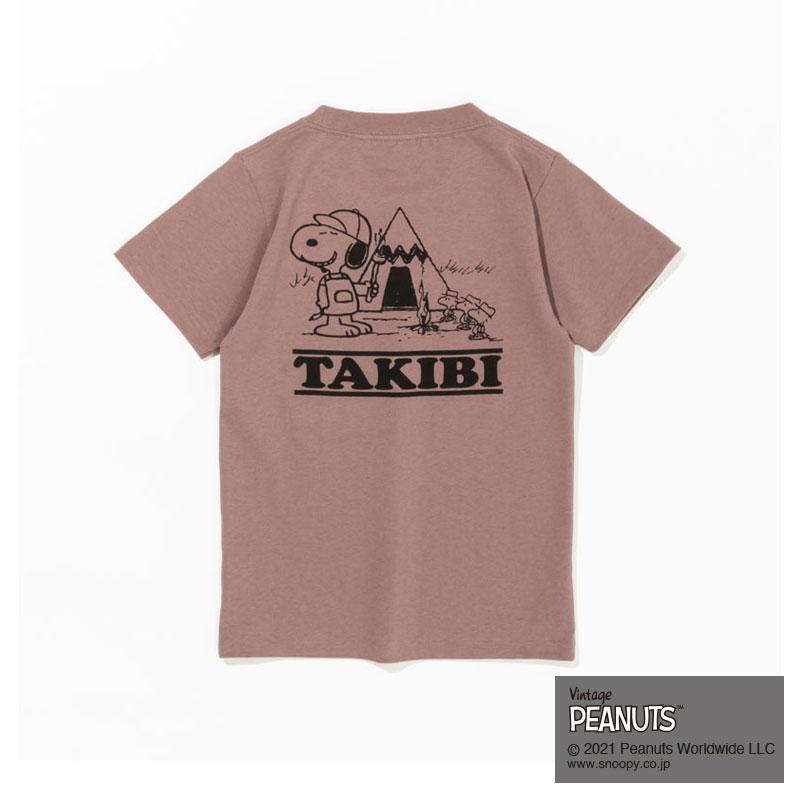 TAKIBI SNOOPY S/S TEE (KIDS)    (PINK)