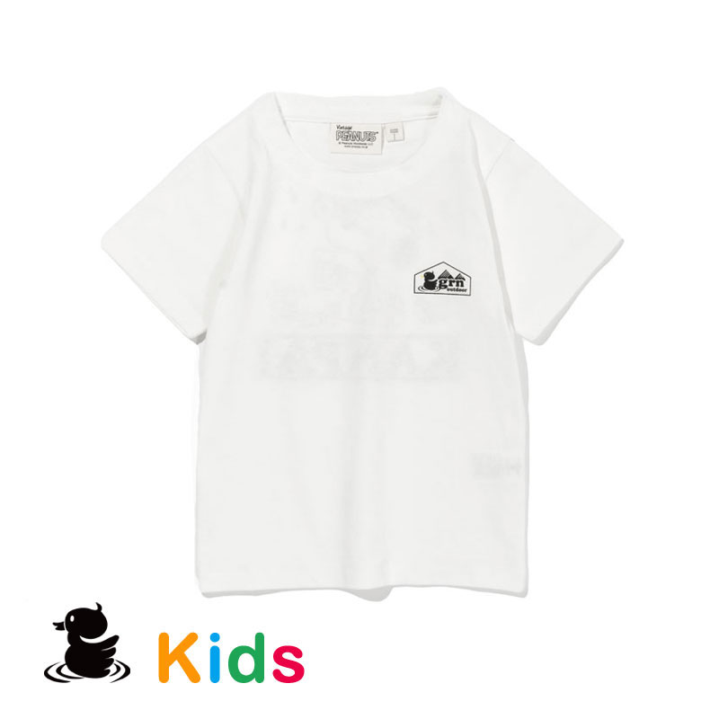 KANPAI SNOOPY S/S TEE(KIDS) (WHITE)