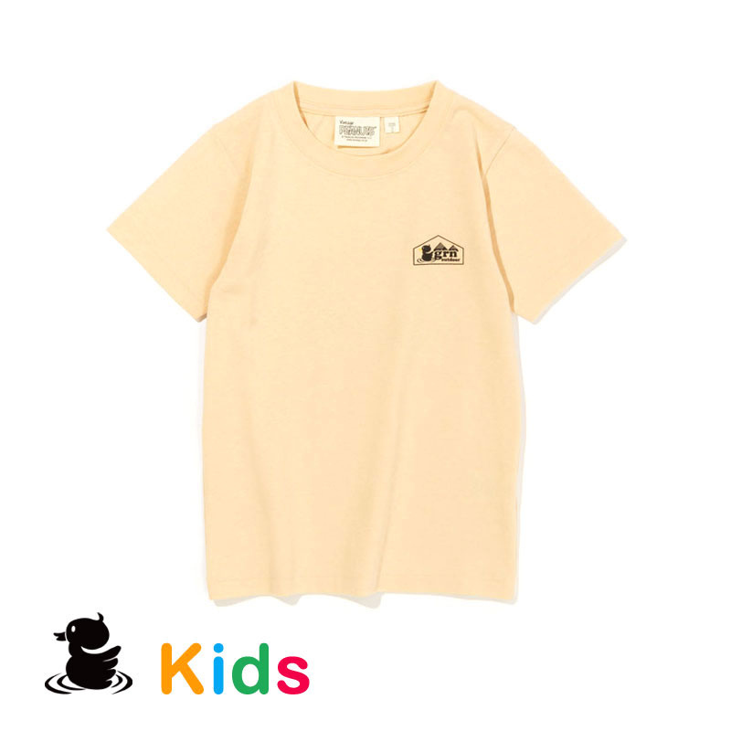 KANPAI SNOOPY S/S TEE  (KIDS)  (YELLOW)