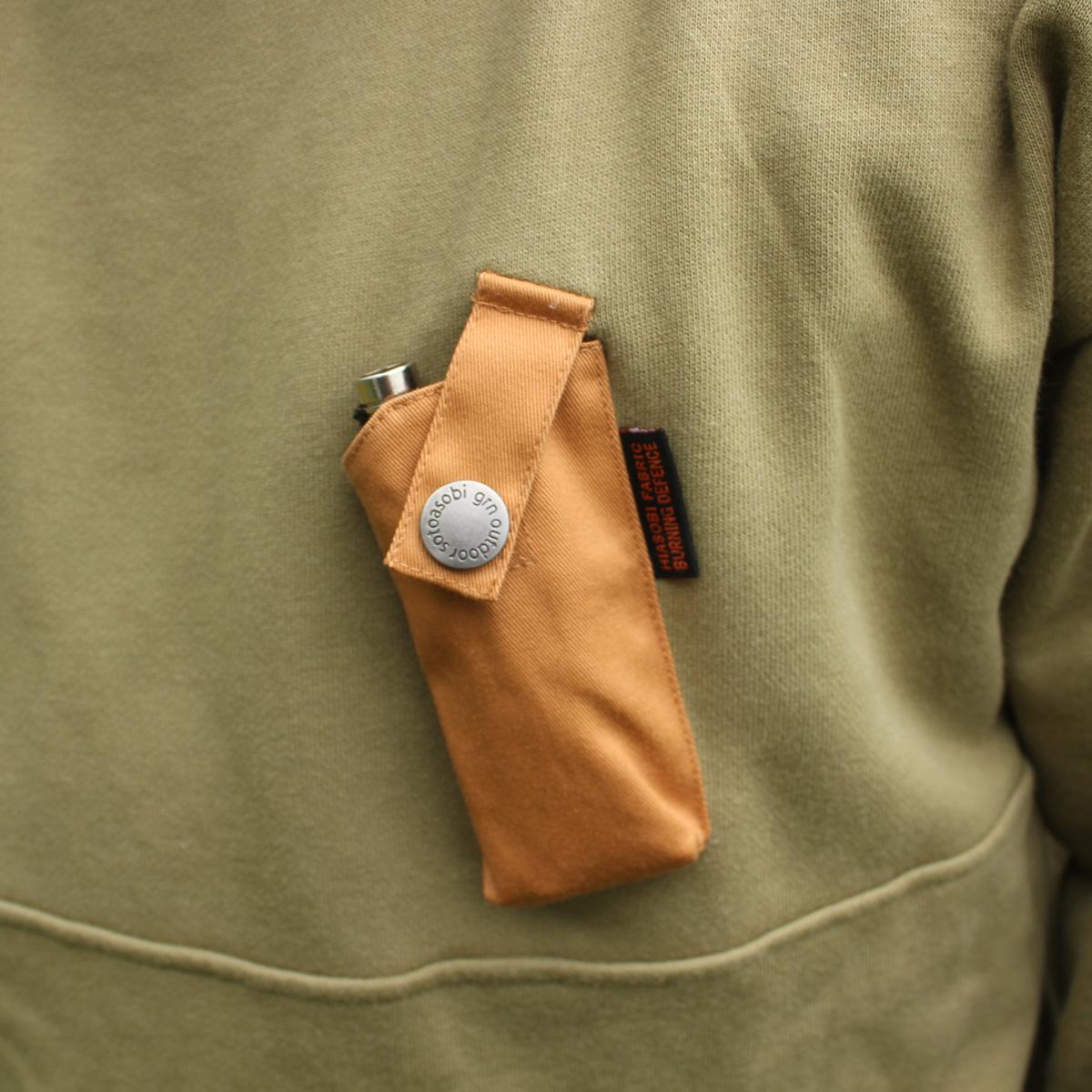 HIASOBI CAMPER HALF-ZIP SWEAT(OLIVE)