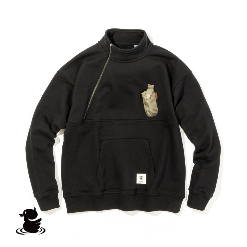 HIASOBI CAMPER HALF-ZIP SWEAT(BLACK)