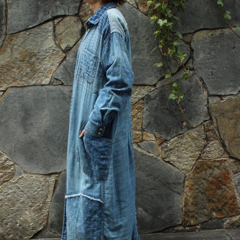 BRENDS IGETA MIX SHIRT COAT(BLUE)