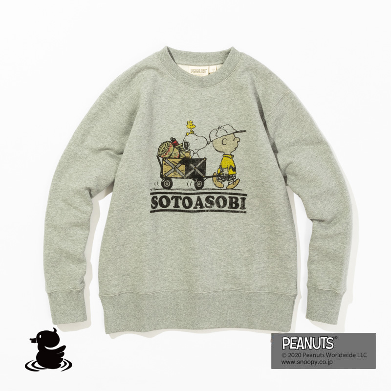 SOTOASOBI SNOOPY CREW SWEAT (H.GRAY)