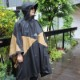 HASSUI HASSUI PONCHO(BLACK)